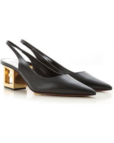 Skórzany czarny sandały Givenchy