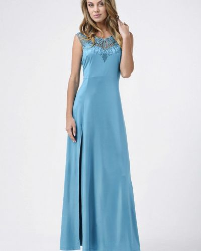 Голубое платье осеннее Ricamare
