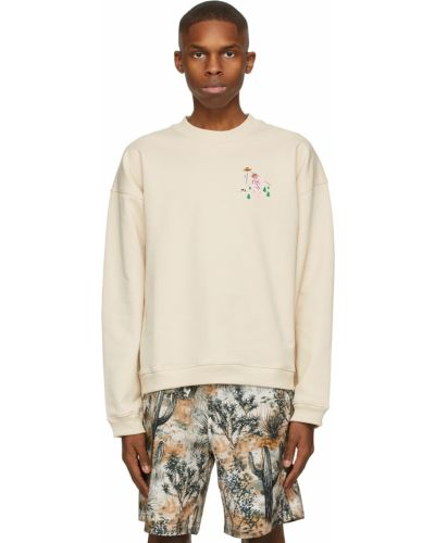 Beżowa bluza długa z długimi rękawami bawełniana Carne Bollente