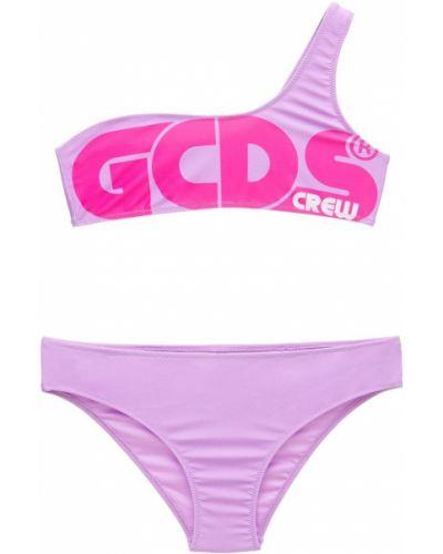 Fioletowy bikini asymetryczny z printem Gcds