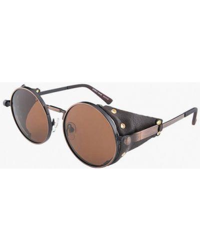 Коричневые солнцезащитные очки круглые Matrix