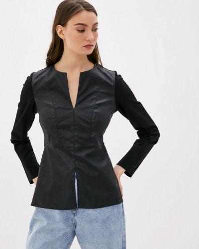 Черная блузка с длинными рукавами M,a,k You Are Beautiful