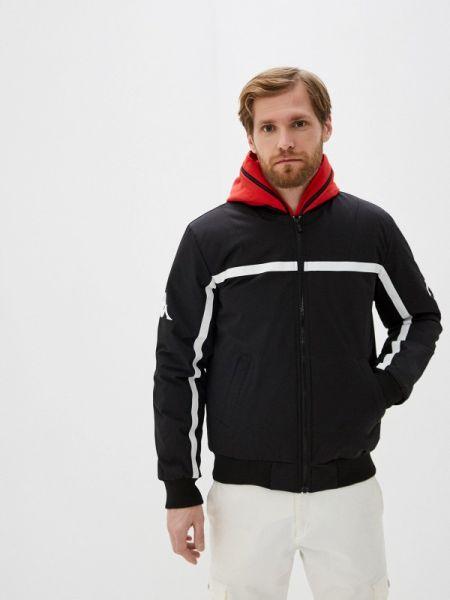 Утепленная куртка черная Kappa