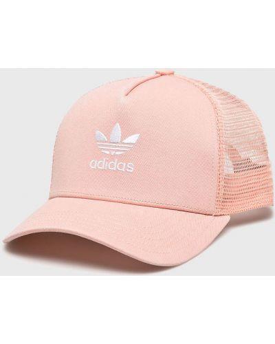 Шапка хлопковая коралловый Adidas Originals