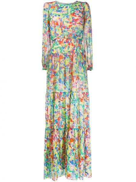 Платье со складками зеленый Saloni