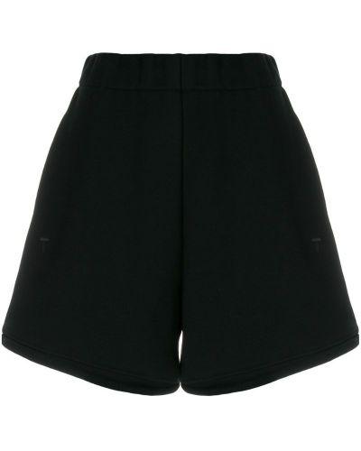 Хлопковые шорты с завышенной талией T By Alexander Wang