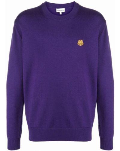 Sweter z haftem - fioletowy Kenzo