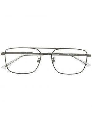 Золотистые желтые очки авиаторы металлические прозрачные Bottega Veneta Eyewear