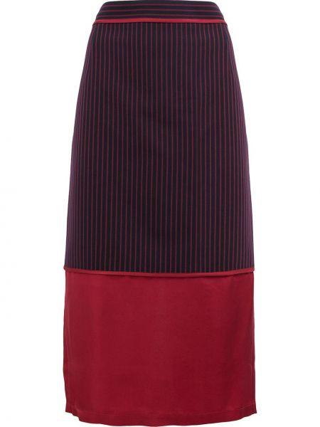 С завышенной талией красная прямая юбка миди Sies Marjan