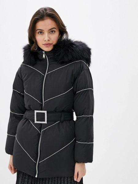 Теплая черная утепленная куртка River Island