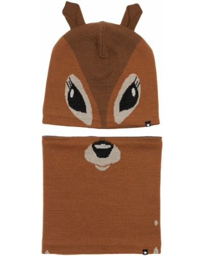 Шерстяной шарф - коричневый Molo