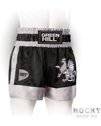 Спортивные шорты черные атласные Green Hill