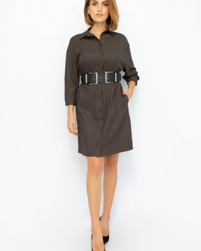 Платье макси длинное - коричневое Espiga