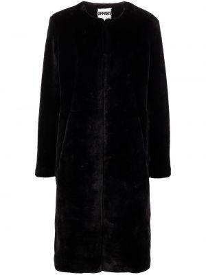 Czarny długi płaszcz Apparis