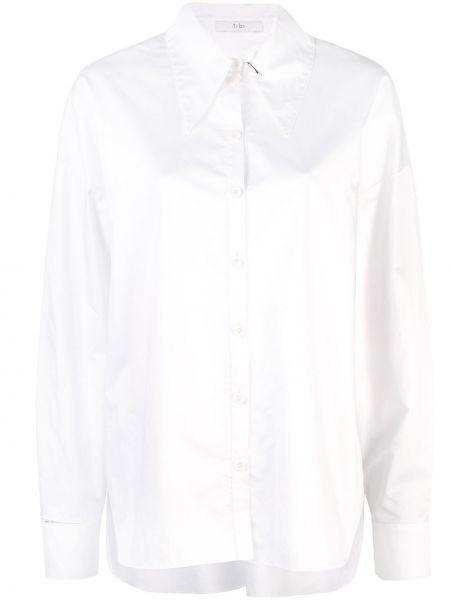 Koszula z długim rękawem biała z kołnierzem Tibi