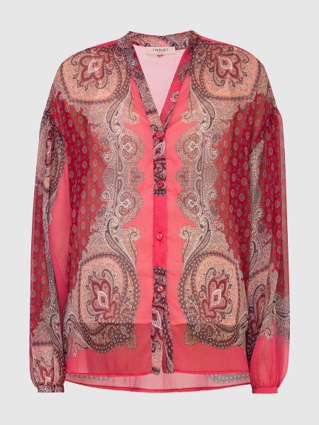 Блузка с принтом - красная Twin-set