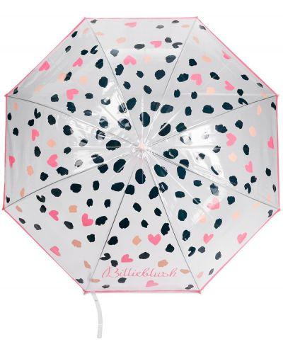 Czarny parasol w grochy z printem Billieblush