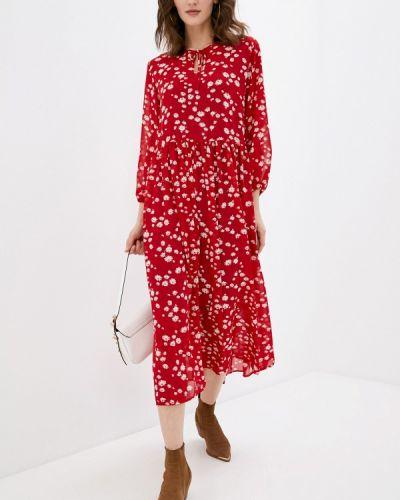 Повседневное красное платье Be Main