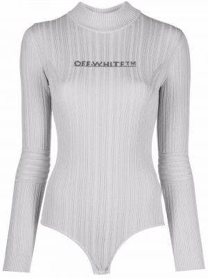 Body prążkowany - biały Off-white