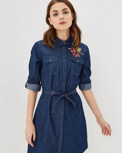 Джинсовое платье платье-рубашка весеннее Zarina