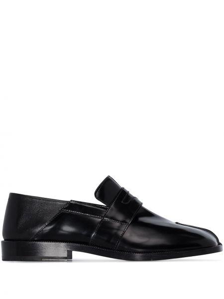 Лоферы черные на каблуке Maison Margiela