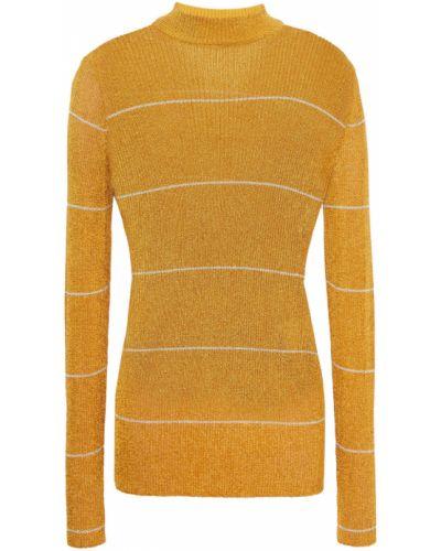 Вязаный свитер в полоску золотой Missoni