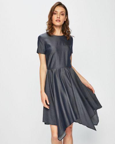 Джинсовое платье однотонное расклешенное Trussardi Jeans