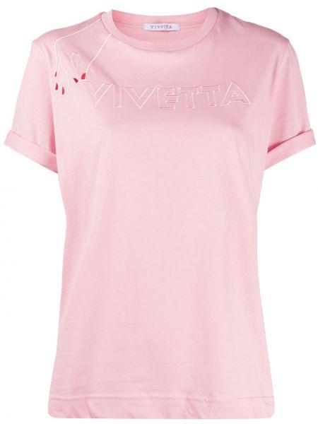 Топ розовый с вышивкой Vivetta