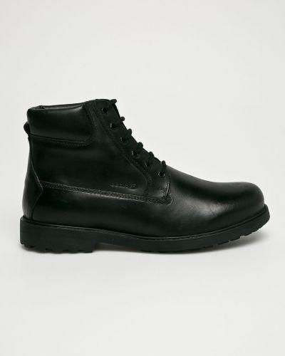 Кожаные ботинки высокие текстильные Geox