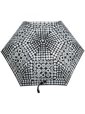 Czarny parasol w grochy z printem 10 Corso Como