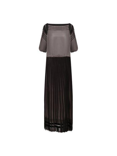 Платье с поясом шелковое мерцающее Giorgio Armani