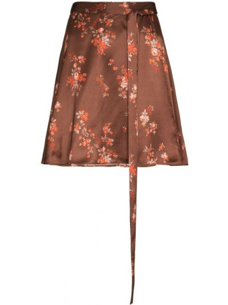 Юбка мини - коричневая Reformation