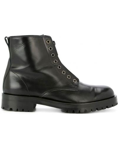Черные кожаные ботинки Hysteric Glamour