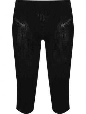 Черные с завышенной талией вязаные шорты Jacquemus