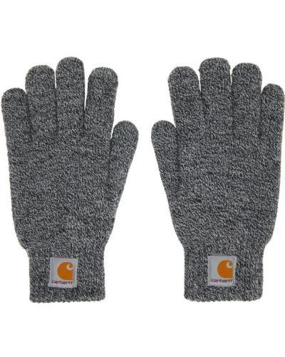 Флисовые черные перчатки на тинсулейте Carhartt Work In Progress