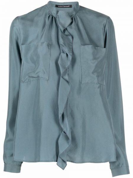 Синяя блузка с длинными рукавами Luisa Cerano