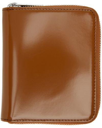 Skórzany biały portfel skórzany prążkowany z gniazdem Maison Margiela