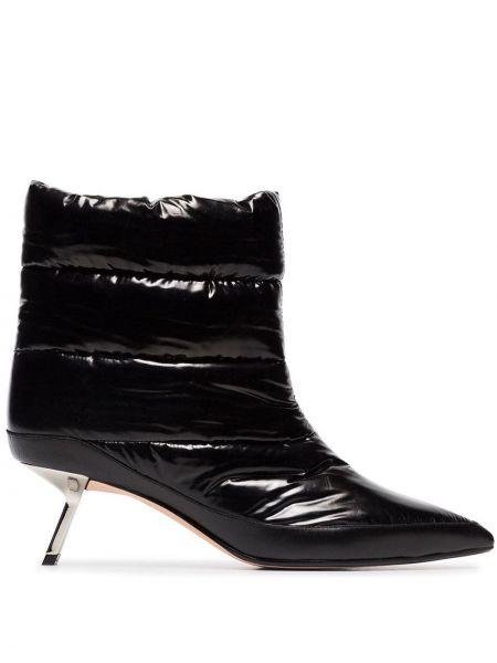 Нейлоновые черные туфли на низком каблуке без застежки на каблуке Alchimia Di Ballin