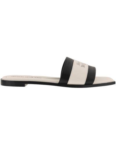 Sandały skorzane Alexander Mcqueen