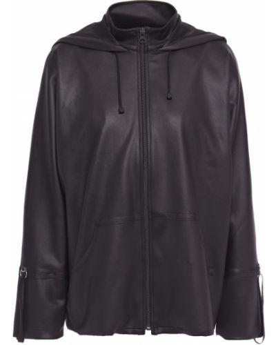 Текстильная черная куртка с капюшоном Koral