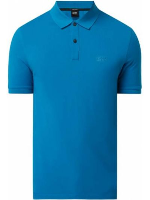 T-shirt bawełniana - turkusowa Boss