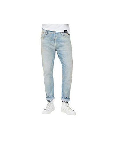 Хлопковые прямые джинсы Replay