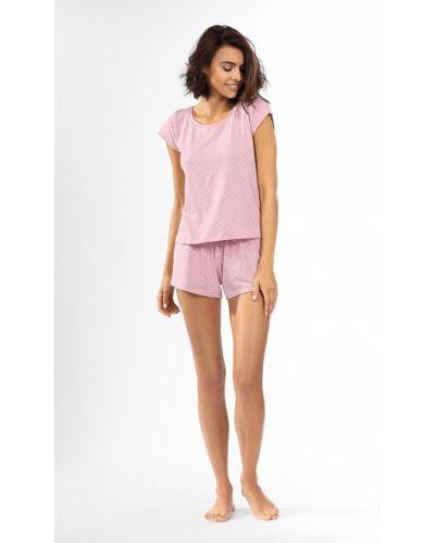 Różowa piżama bawełniana krótki rękaw Lorin