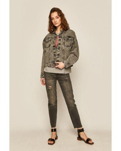 Хлопковая джинсовая куртка оверсайз с воротником Medicine