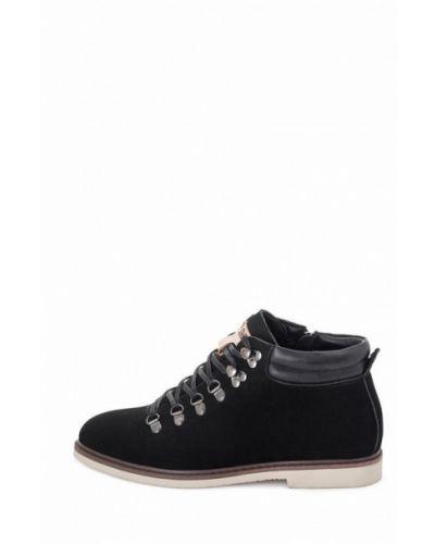 Ботинки из нубука - черные Philip Smit