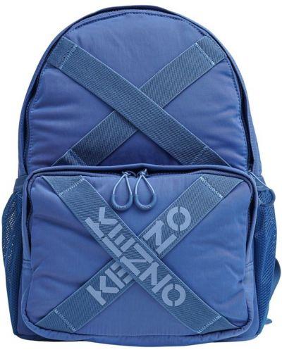 Niebieski plecak w paski Kenzo