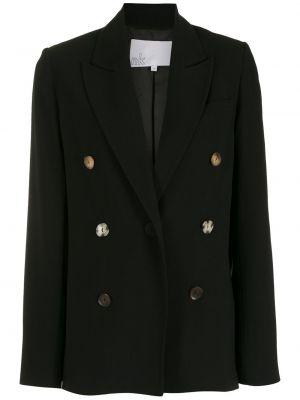 Прямой черный удлиненный пиджак на пуговицах Nk