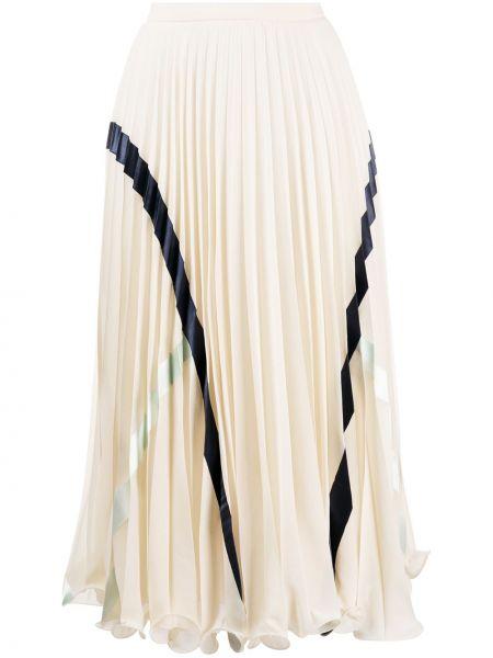 Плиссированная юбка миди с поясом из вискозы See By Chloé