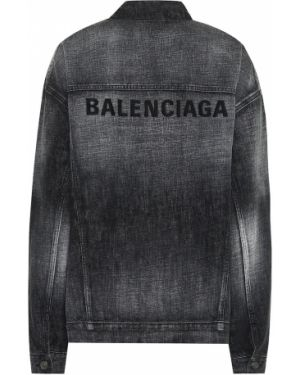 Джинсовая куртка черная куртка-жакет Balenciaga