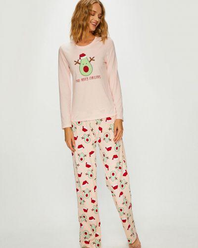 Piżama długo różowy Answear
